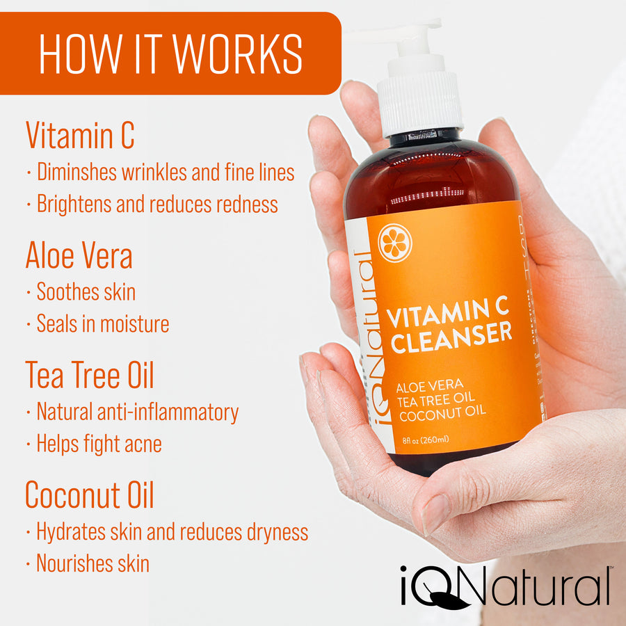 Vitamin C Cleanser - Anti-Aging - iQ Natural