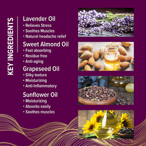 Wild Lavender Massage Oil - iQ Natural