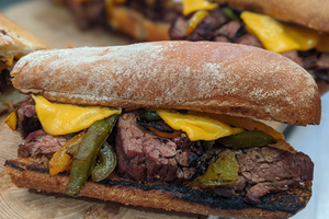 Skirt Steak Philly Cheesesteaks