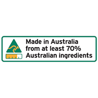 Country of Origin - 70% Australian Ingredients