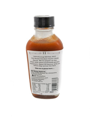 Old Bones Chilli Co Smoked Garlic Chilli Sauce Extra Hot 100ml