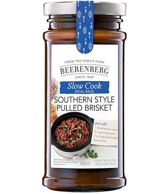 Beerenberg Slow Cooker Southern Style Pulled Brisket 240ml