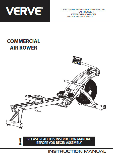 VERVE Commercial Air Rower | PRE-ORDER August