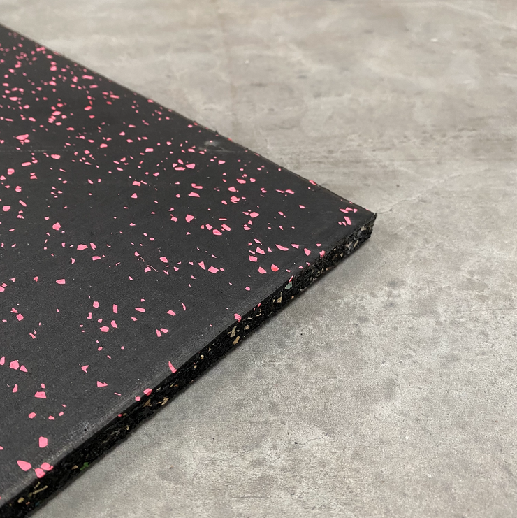 Premium EPDM Rubber Gym Flooring - Pink Fleck | 15mm Gym Mats