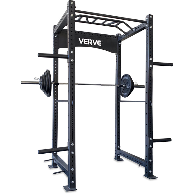 Commercial Power Rack Package with Bumper Plates