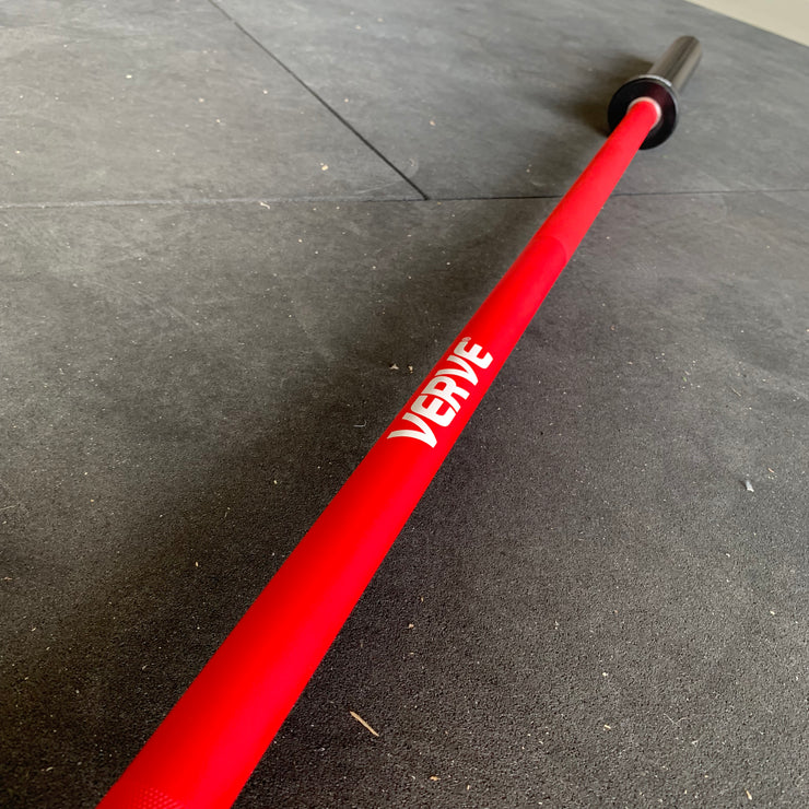 VERVE Elite Olympic Barbell - Red - 20kg | PRE-ORDER DELIVERY DATE TO BE CONFIRMED