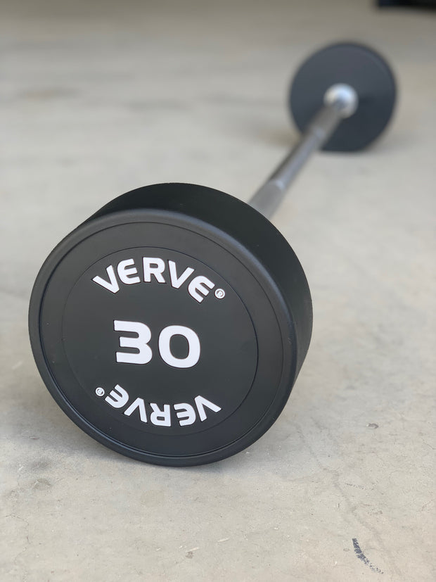 VERVE PRO Club PU Barbell Set of 10KG - 55KG with Rack (Package Price)