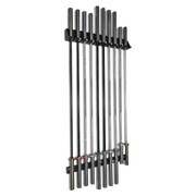 VERVE Vertical Wall Barbell Holder - 10 Bars