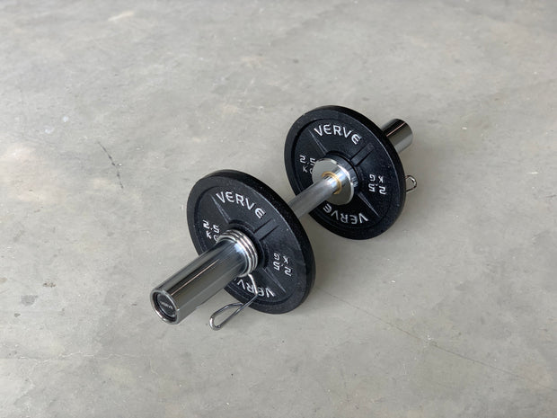 Olympic Dumbbell Handles with Bushings | Pair of 2