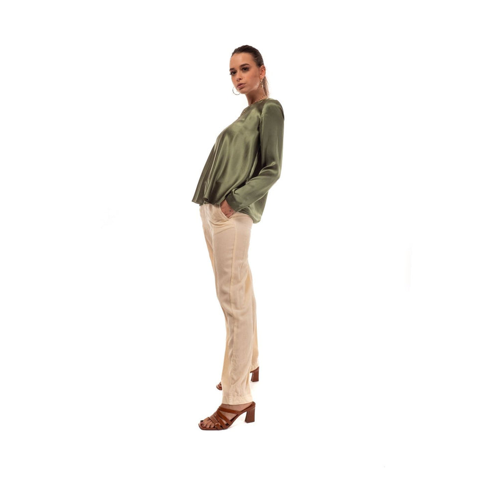 Pants for women FORTE FORTE 6522 AVORIO