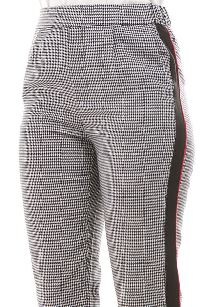 Houndstooth Piping Pant