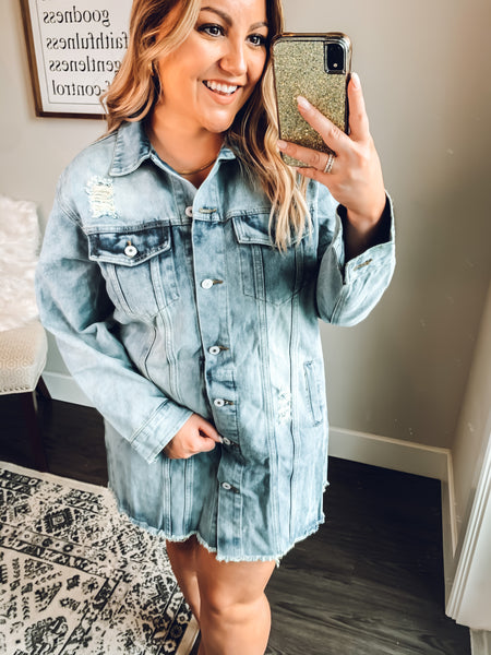 Kendra Oversized Denim Jacket