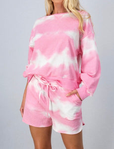 ON CLOUD NINE TIE DYE SET PINK