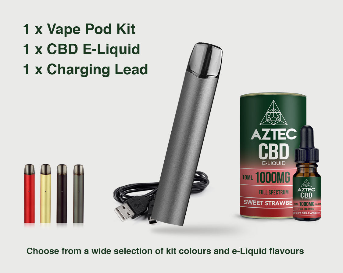 Aztec CBD Pod Starter Kit from £34.99