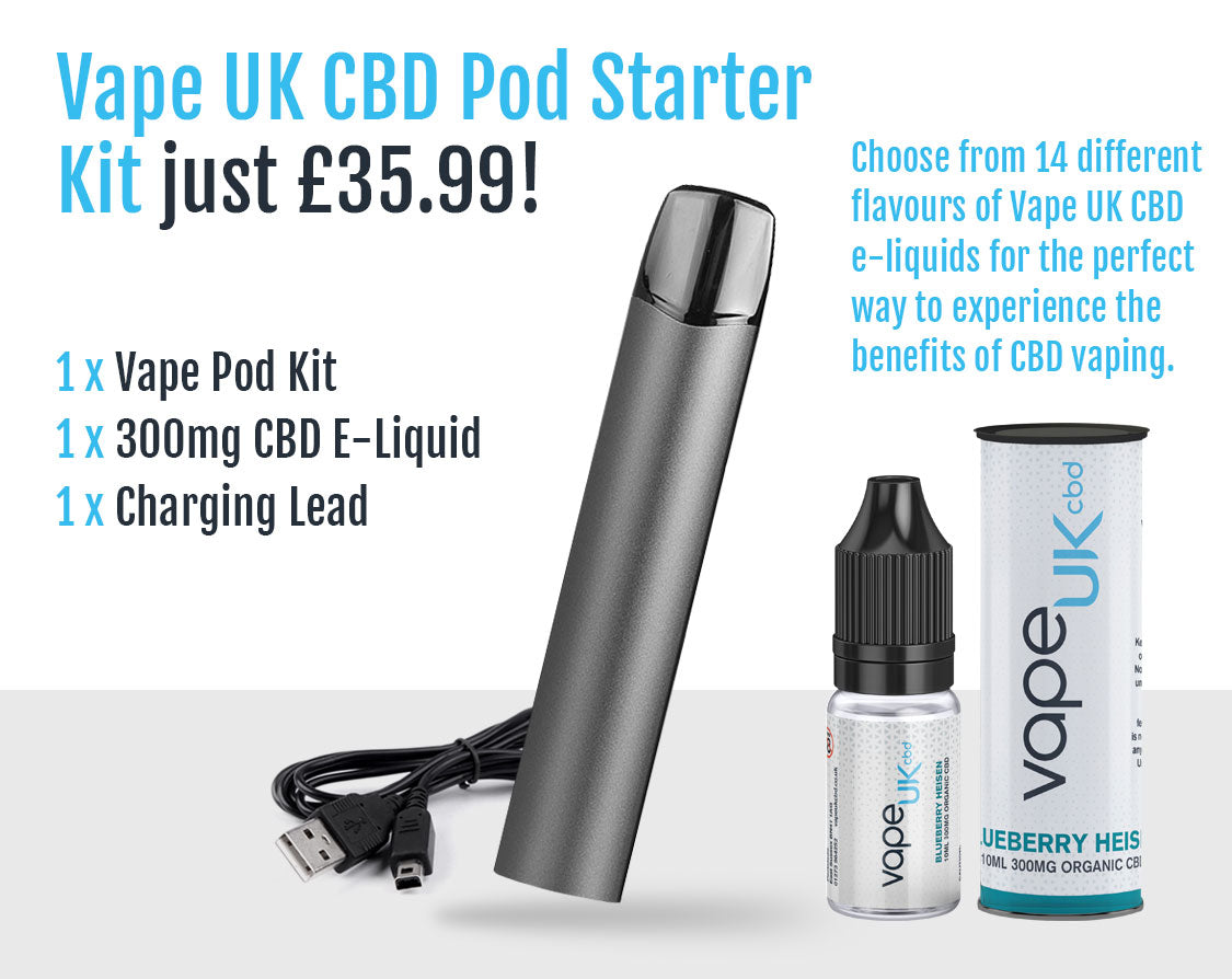 Vape UK £35.99 CBD Vaping Starter Pod Kit