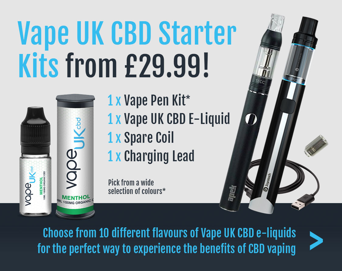 Vape UK CBD Starter Kits from £29.99