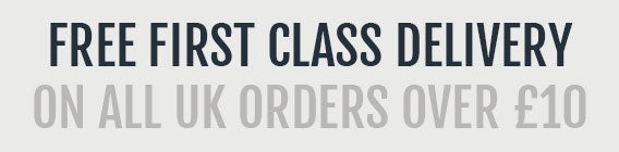 Free first class UK delivery on all orders over £20