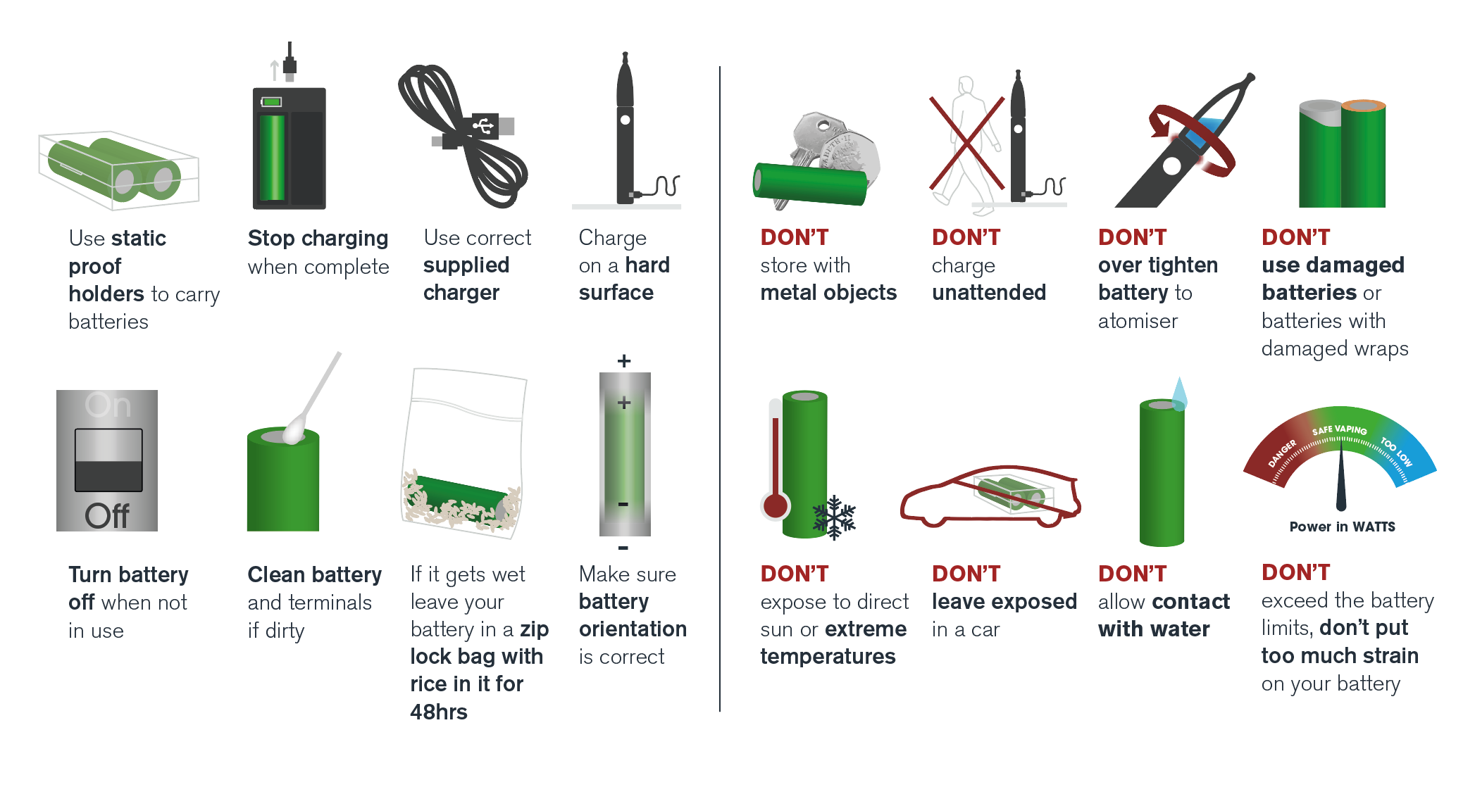 Battery dos and don'ts