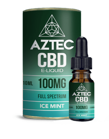 Aztec CBD 10ml / 100mg Aztec Ice Mint Full Spectrum CBD E-Liquid