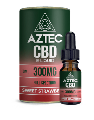 Aztec CBD 10ml / 300mg Aztec Sweet Strawberry Full Spectrum CBD E-Liquid