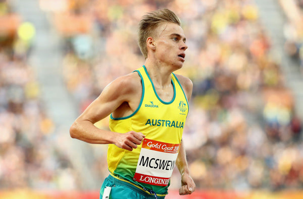 GOLD COAST, AUSTRALIA – APRIL 08: Stewart McSweyn of Australia competes in the Men's 5000 metres final on day four of the Gold Coast 2018 Commonwealth Games at Carrara Stadium on April 8, 2018 on the Gold Coast, Australia. (Photo by Cameron Spencer/Getty Images)