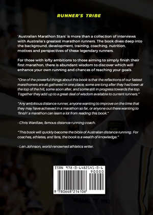 Australian Marathon Stars (paperback book 350 pages) - INTERVIEWS AND TRAINING INSIGHTS WITH AUSTRALIA'S BEST EVER