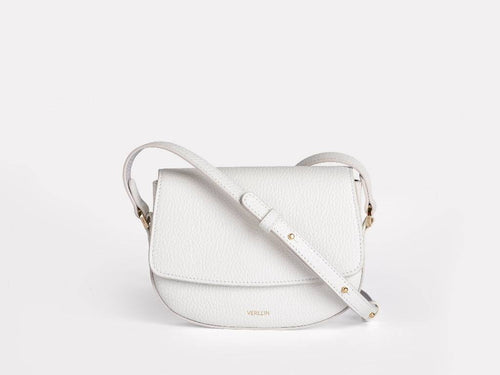 Ana Mini Crossbody, Pure White Handbags from Verlein curated by pu·rist