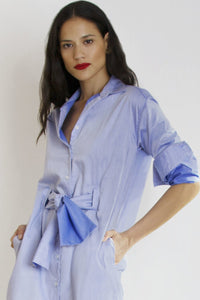 Bow Dress | Blue Dresses from JETTI curated by pu·rist