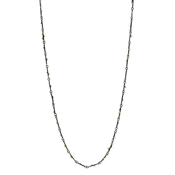 GOLD GRAINS LINKS NECKLACE-Necklace-agneta bugyte-pu·rist