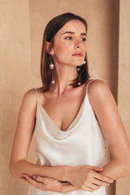 Load image into Gallery viewer, Midi Silk Slip Dress | White Dresses from MIONÈ curated by pu·rist