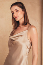 Load image into Gallery viewer, Midi Silk Slip Dress | Beige Dresses from MIONÈ curated by pu·rist