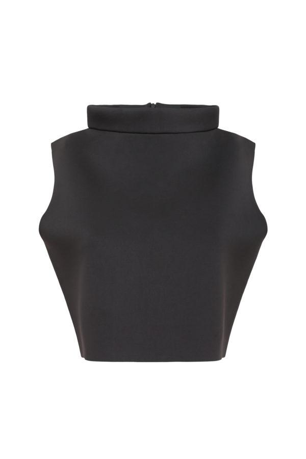 SLEEVELESS SCUBA CROP TOP
