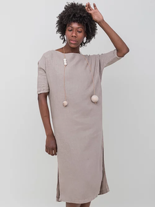 DEBRA duster dress | stone