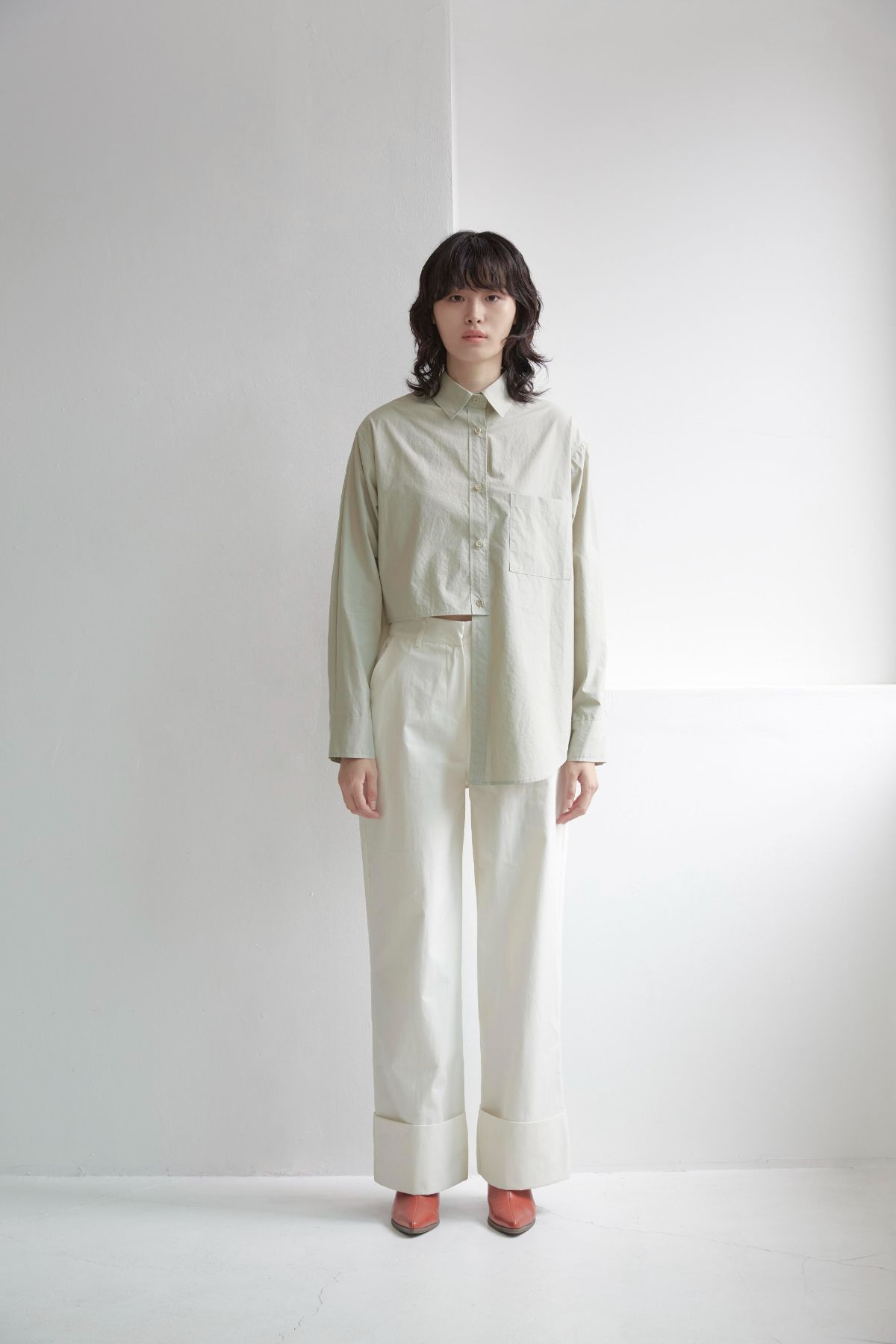 TAMEGA SHIRT Shirts from TEXTURE ZERO curated by pu·rist