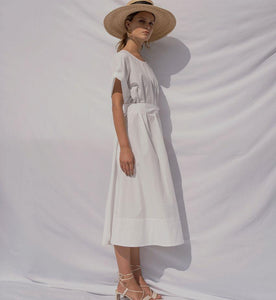 Aurore | Cotton Flowy Dress-Dresses-charlotte pringels-pu·rist