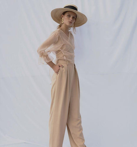 Lotus | Front Pleated Trousers-PANTS-charlotte pringels-pu·rist