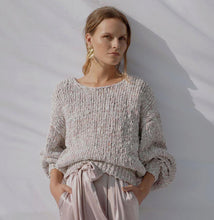 Load image into Gallery viewer, Floo Lilac | Knitted Puff-sleeve Pull-Sweaters-charlotte pringels-pu·rist
