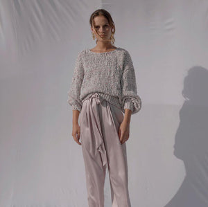 Floo Lilac | Knitted Puff-sleeve Pull-Sweaters-charlotte pringels-pu·rist