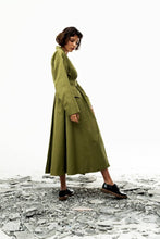 Load image into Gallery viewer, Liun Trench Coat (Meadow Olive) Pre-order-Outer-MOIRAI-pu·rist