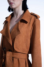 Load image into Gallery viewer, Faux suede trench coat (Kate Barlow) Outerwear from Blackburd curated by pu·rist