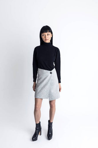 Double Face Skirt-skirt-DONNA ZHONG-XS-Grey/Black-pu·rist