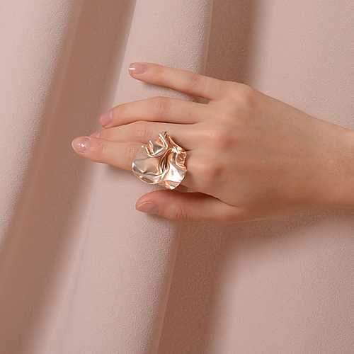 Rose gold FOLD open ring-jewellery-feihefeihefeihe-pu·rist