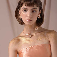 Load image into Gallery viewer, Rose gold FOLD choker-jewellery-feihefeihefeihe-pu·rist