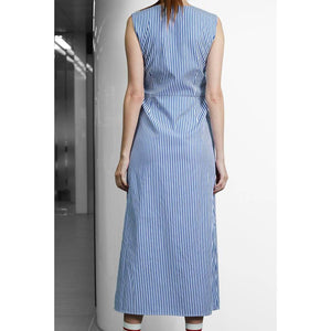 Stripe Twin-Knots Dress-Dress-Charlotte Ng Studio-pu·rist