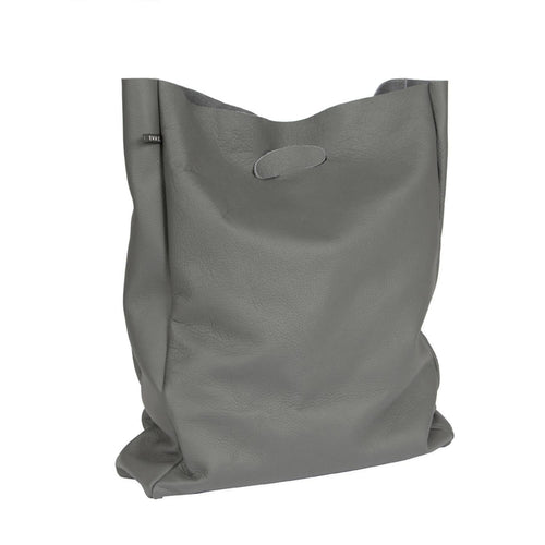 Leather shopper Lastic bag grey bags from EVA D. curated by pu·rist