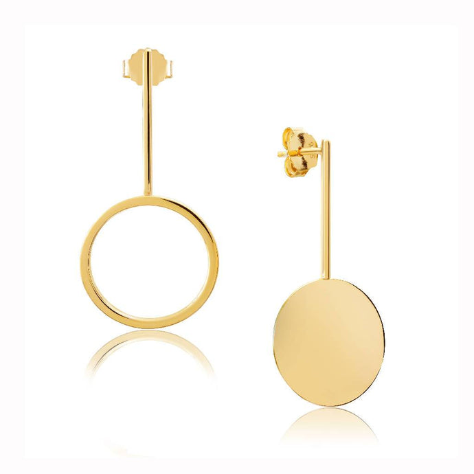 Anouska (Gold)-18ct Gold Plated Vermeil Earrings-Sia Shafer-Gold-pu·rist