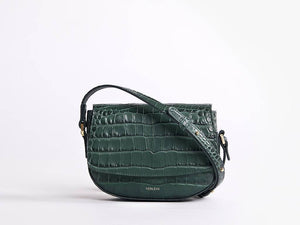 Ana Croc Mini Crossbody, Amazon Green Handbags from Verlein curated by pu·rist