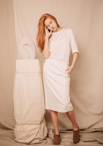 COEL VISCOSE SKIRT | WHITE