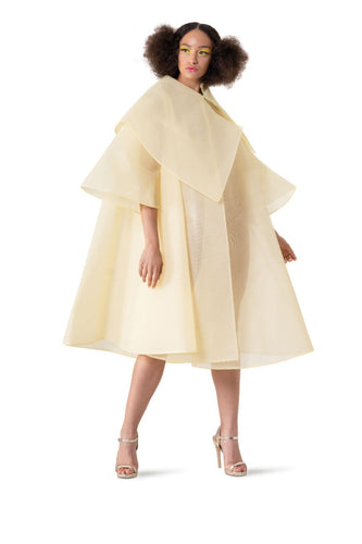 YELLOW PRINCESS TULLE CAPE - pu·rist