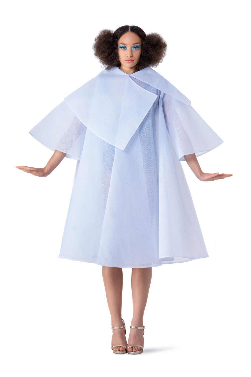 BLUE PRINCESS TULLE CAPE - pu·rist
